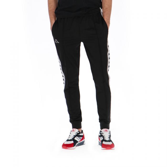 kappa pantaloni black white