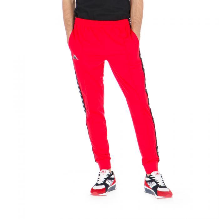 kappa pantaloni red-black-white