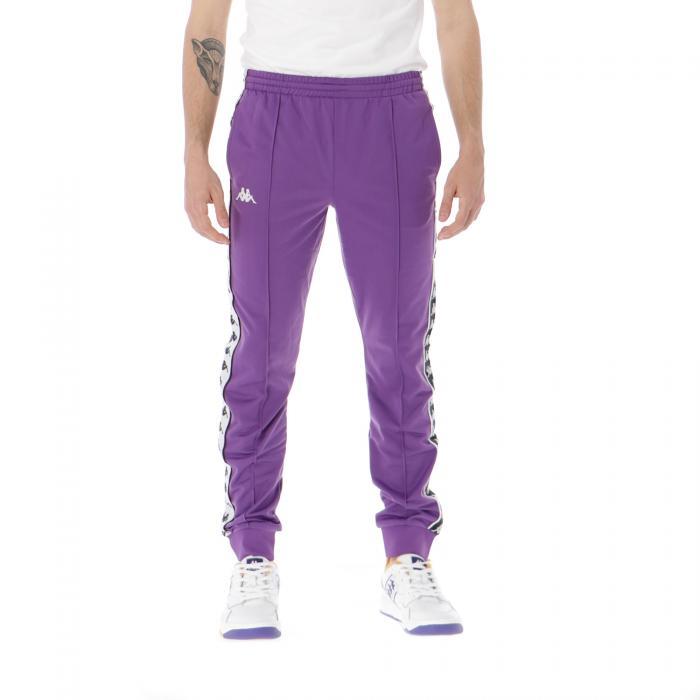 kappa pantaloni violet-black-white