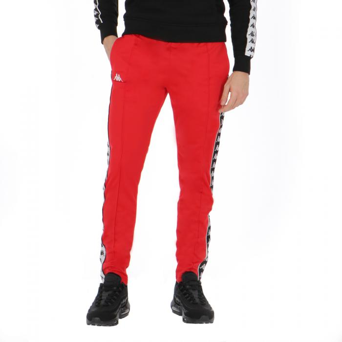 kappa pantaloni red-black-white