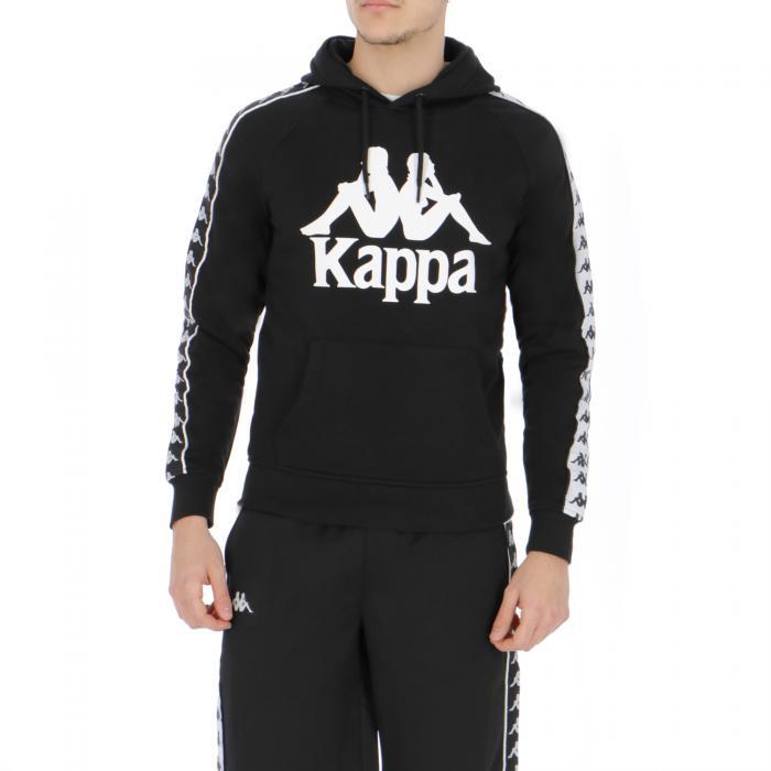 kappa felpe black white