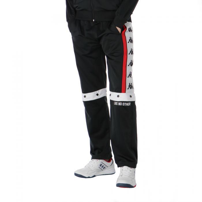 kappa pantaloni black-red-white