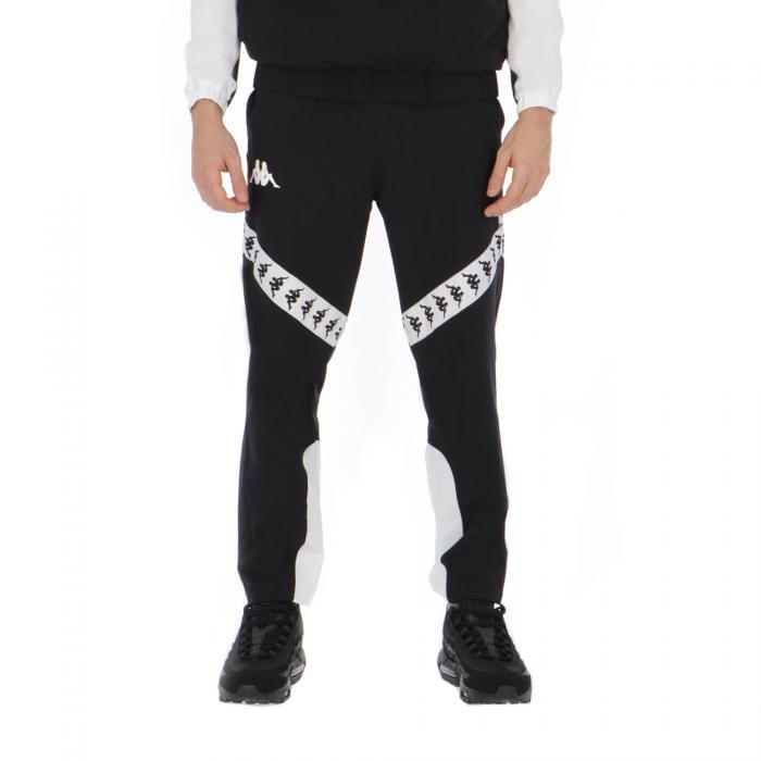 kappa pantaloni black-white