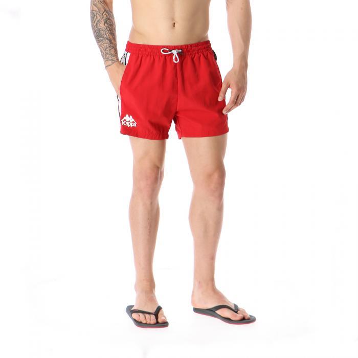 kappa beachwear red black white