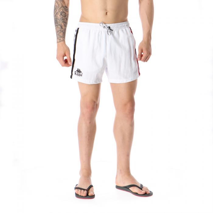 kappa beachwear white red black