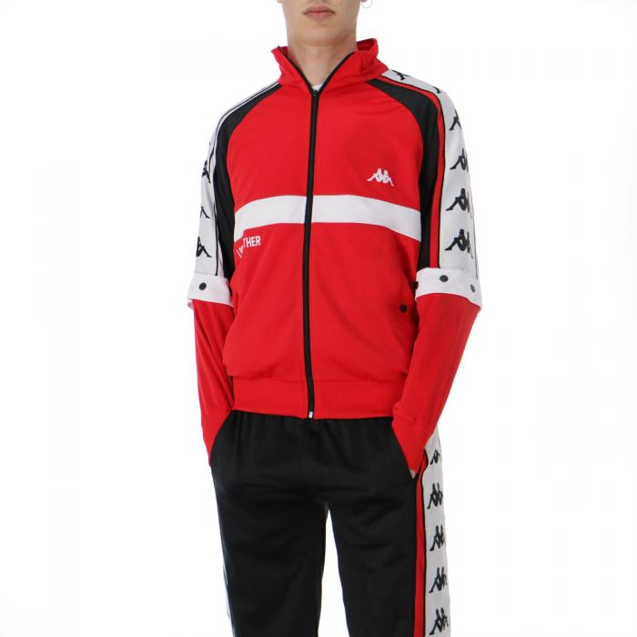 kappa felpe red-black-white