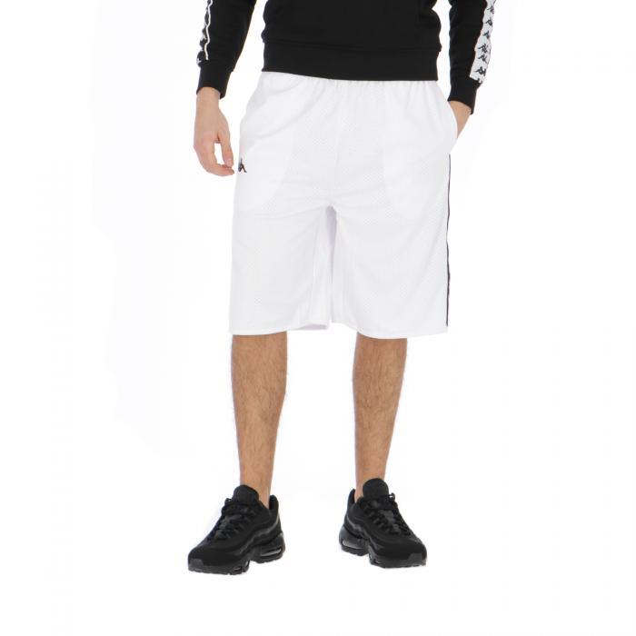kappa shorts white-black