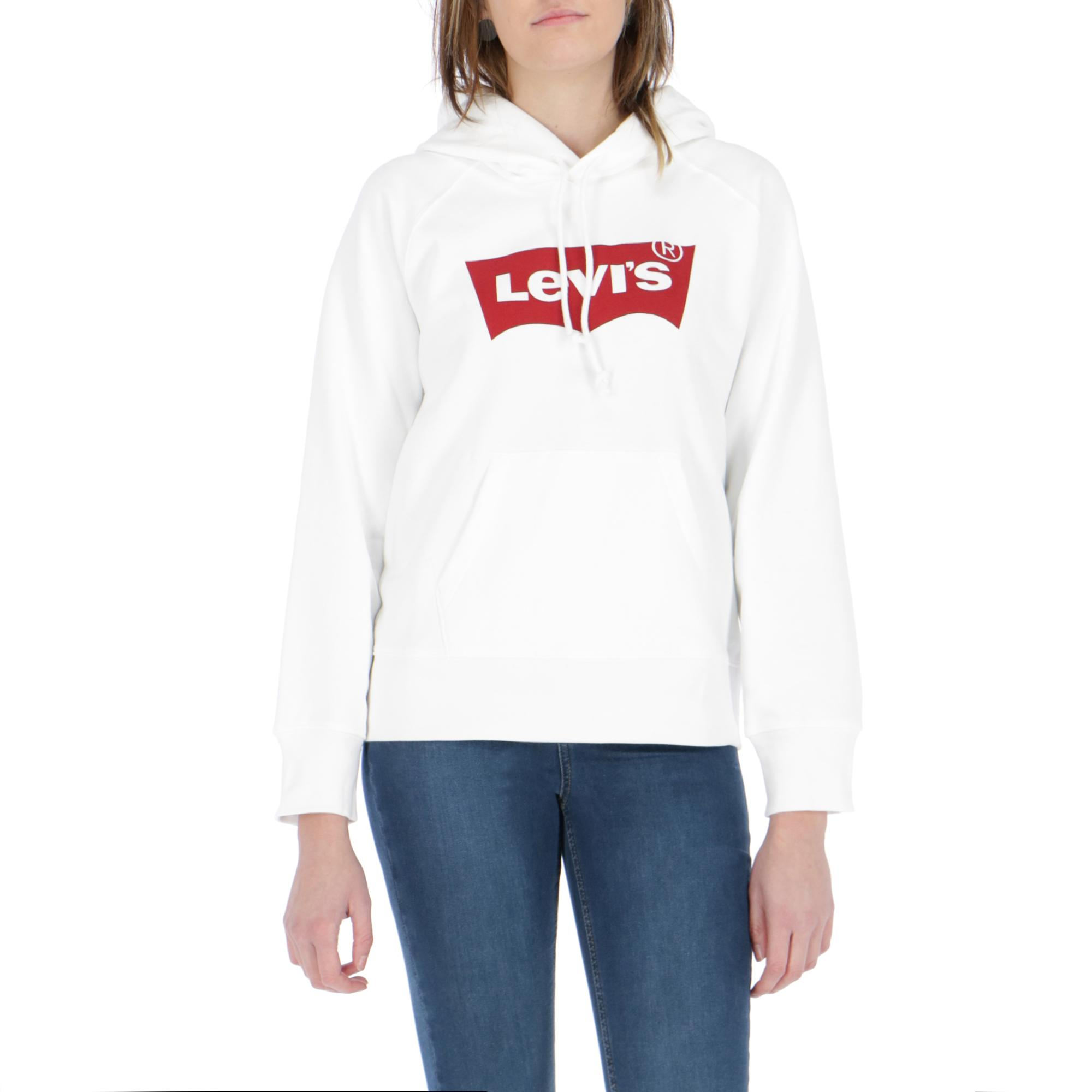 8b71ff80a5657 Levi's Graphic Sport Hoodie Housemark White | Treesse