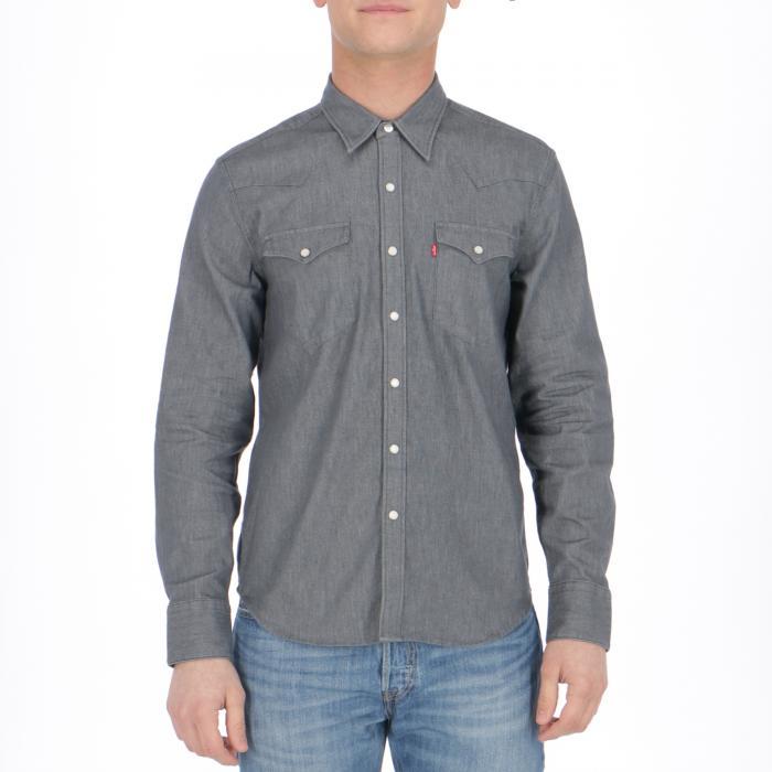 levi's camicie maniche lunghe gray rinse