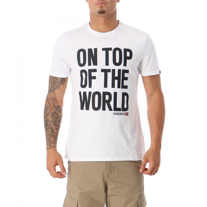 napapijri t-shirt e canotte white black