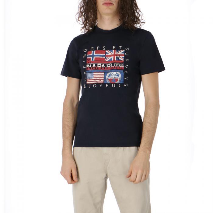 napapijri t-shirt e canotte blu marine
