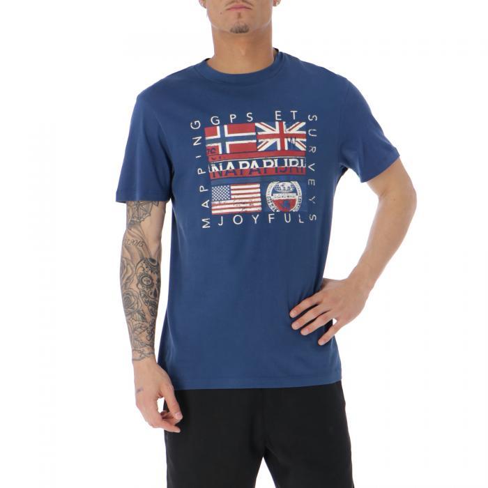 napapijri t-shirt e canotte dark denim