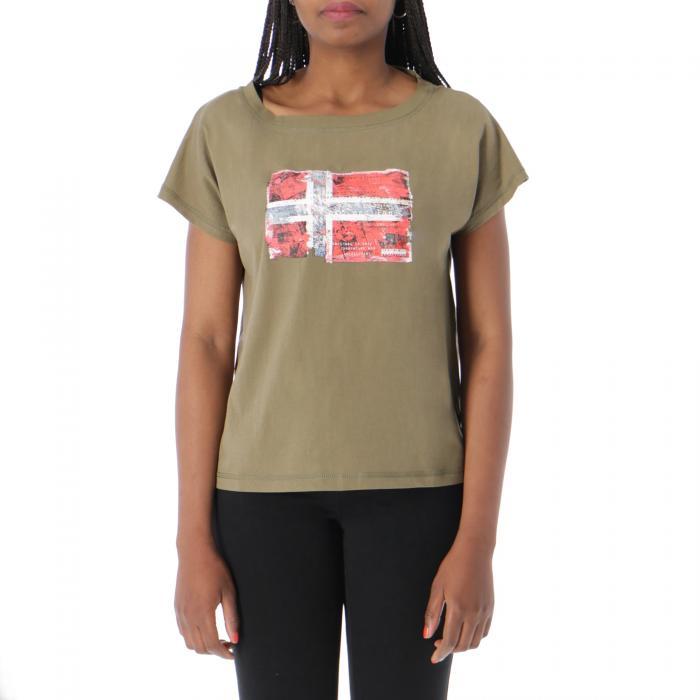 napapijri t-shirt e canotte new olive green