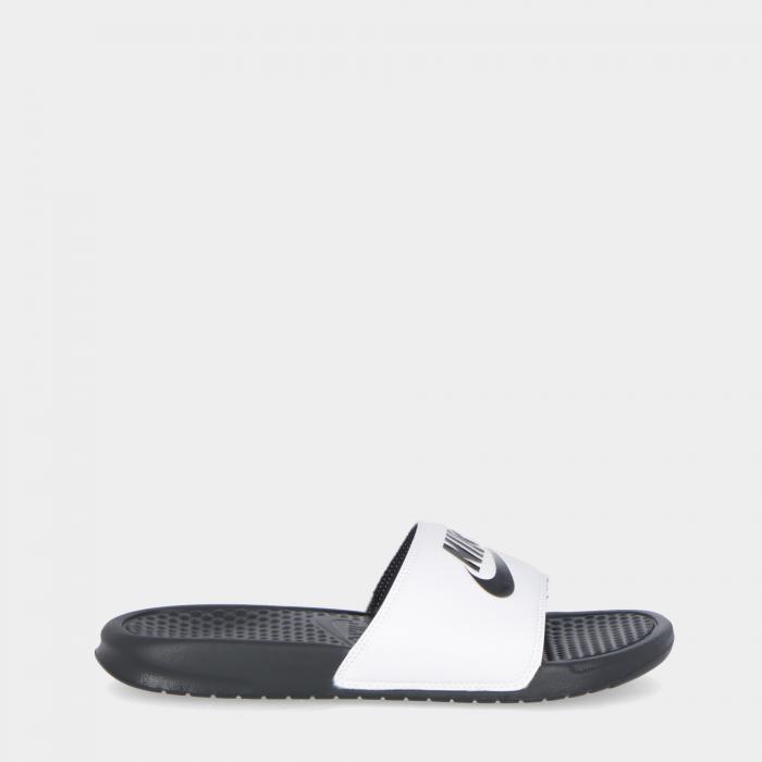 nike sandali e ciabatte white black