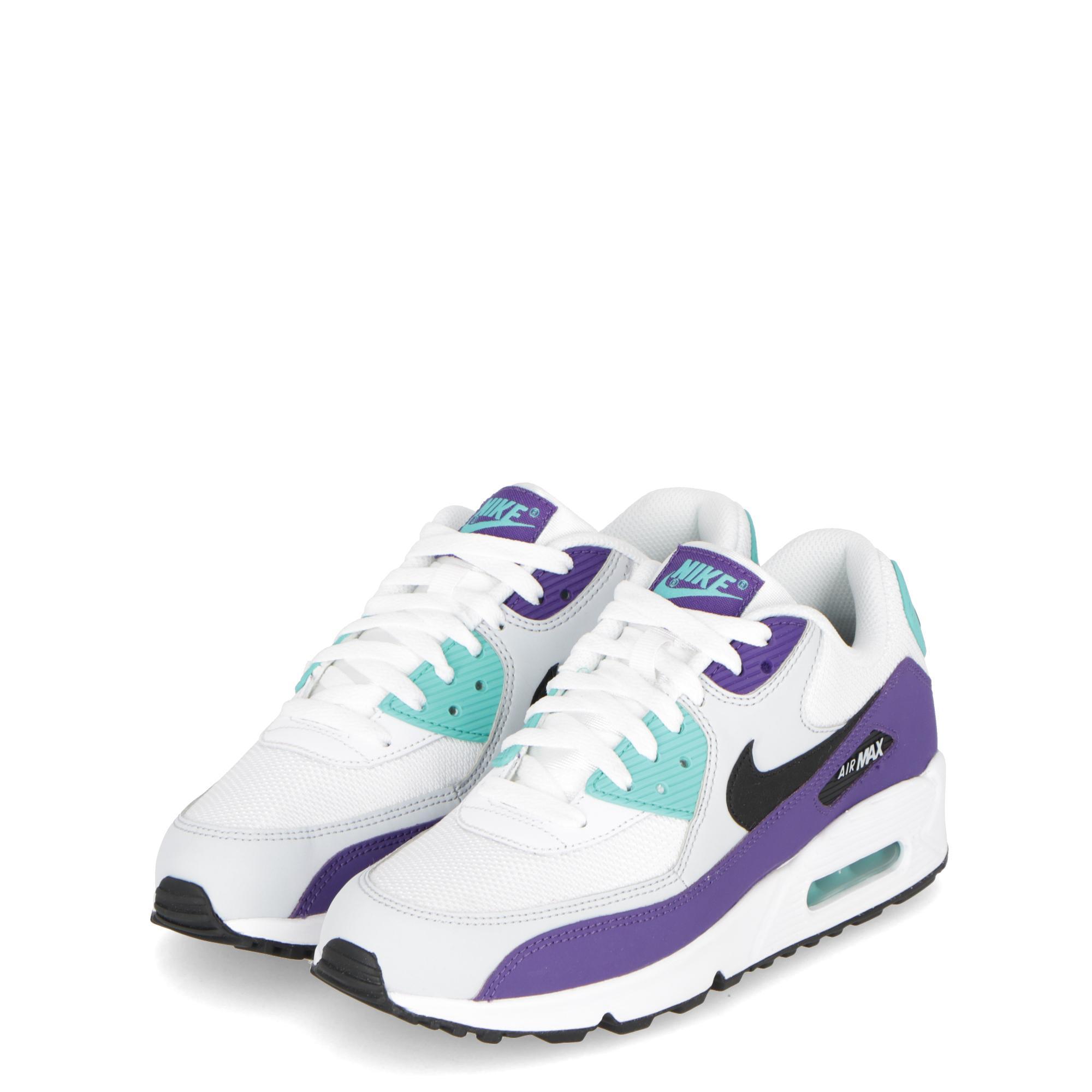 Nike Air Max 90 Essential White Black Purple  6a20bab46