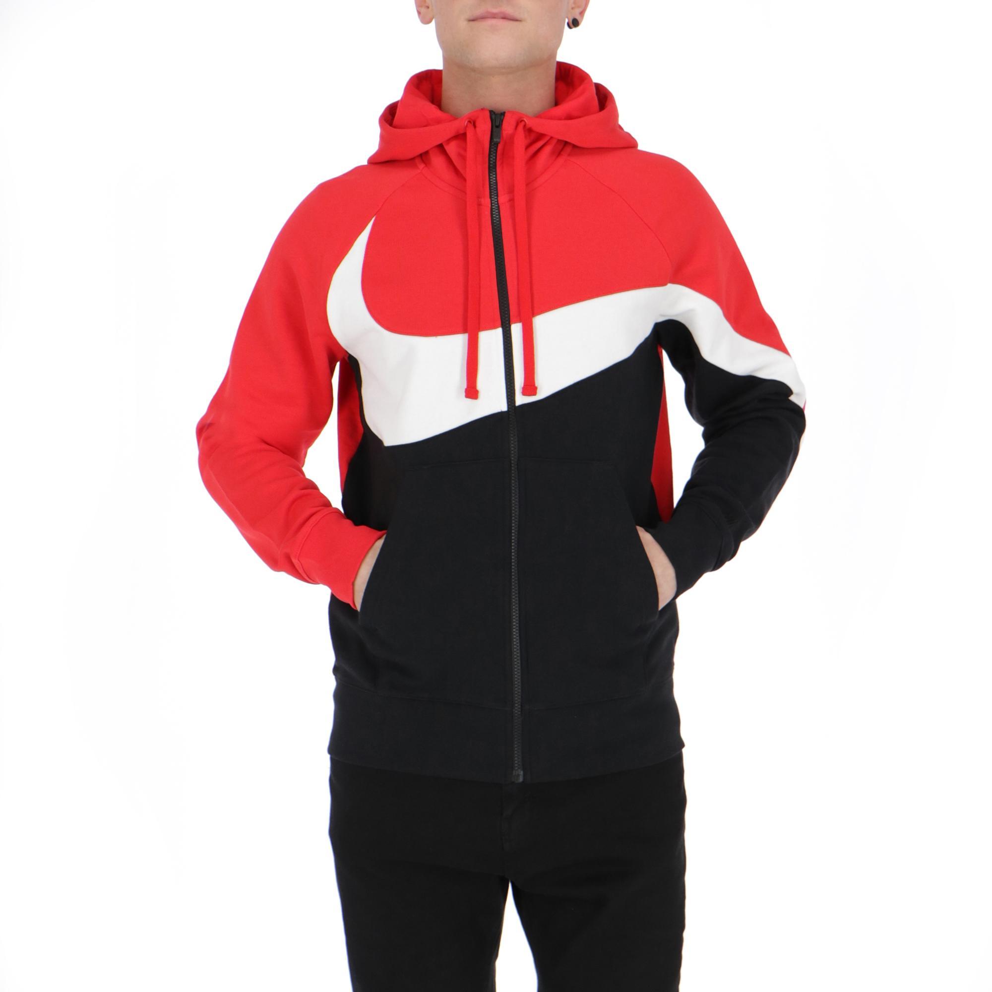 Nike Nsw Hbr Hoodie Fz Ft Stmt UNVRED BLACK