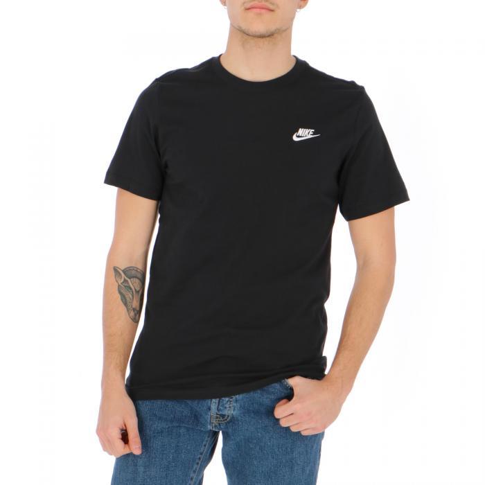 nike t-shirt e canotte black white