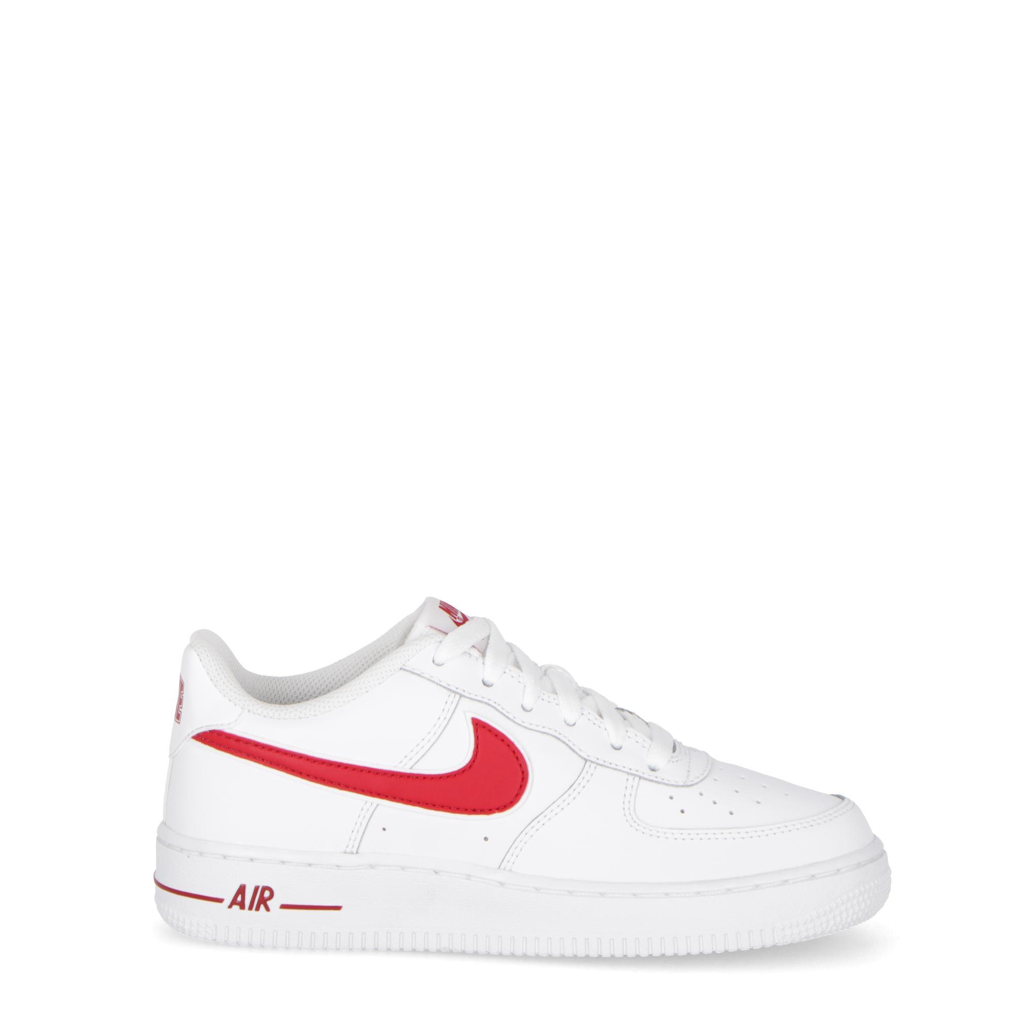 size 40 0a42c e91db Nike Air Force 1 3 (gs) - Kids White gym red