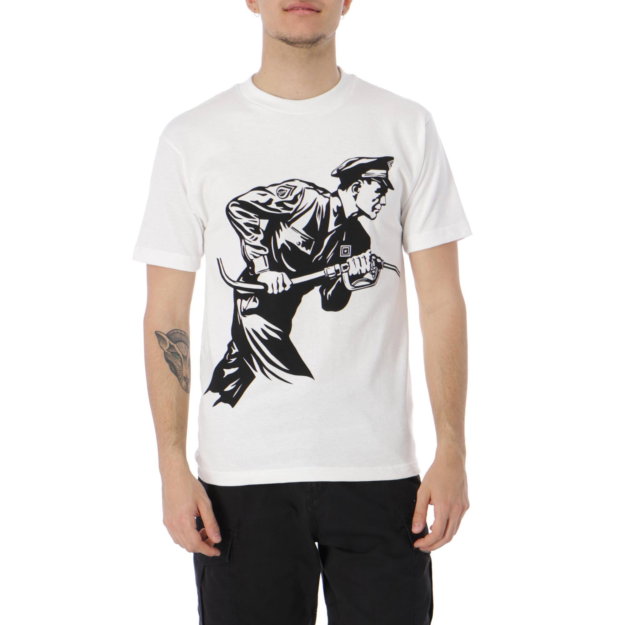 Obey Never Stop Charcing Recycled Tee WHITE