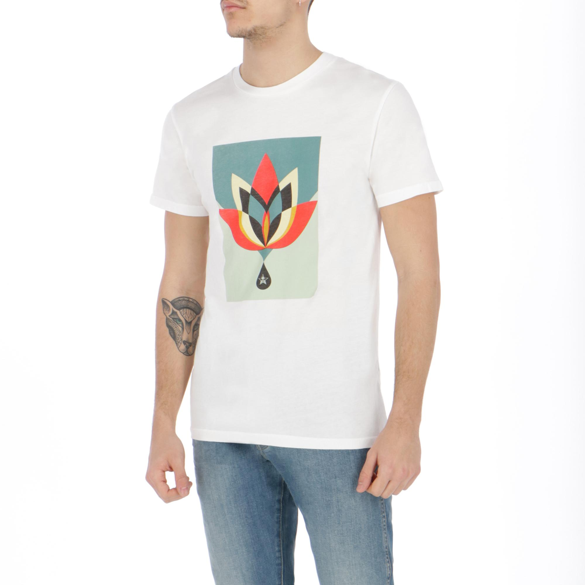 Obey Geometric Flower Superior Tee WHITE