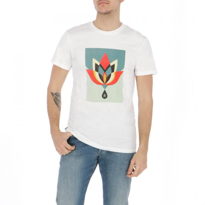 obey t-shirt e canotte white