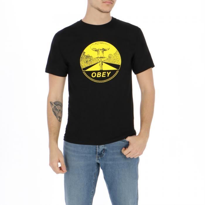 obey t-shirt e canotte black