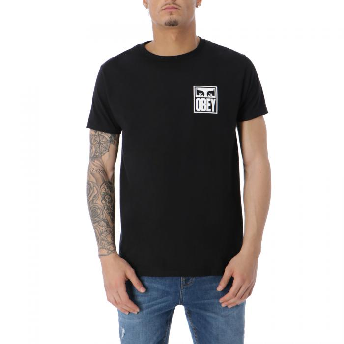 obey t-shirt e canotte black