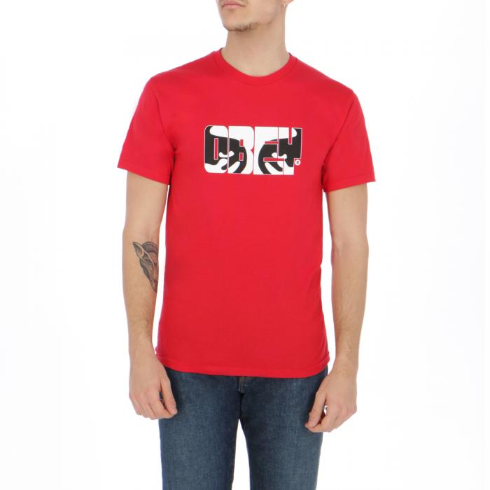 obey t-shirt e canotte red