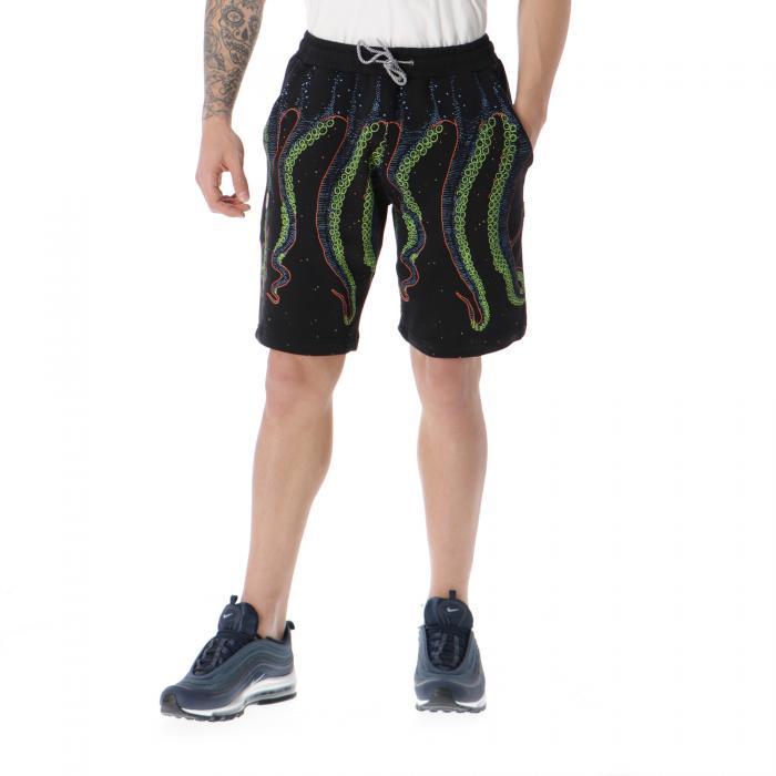 octopus shorts black tropical