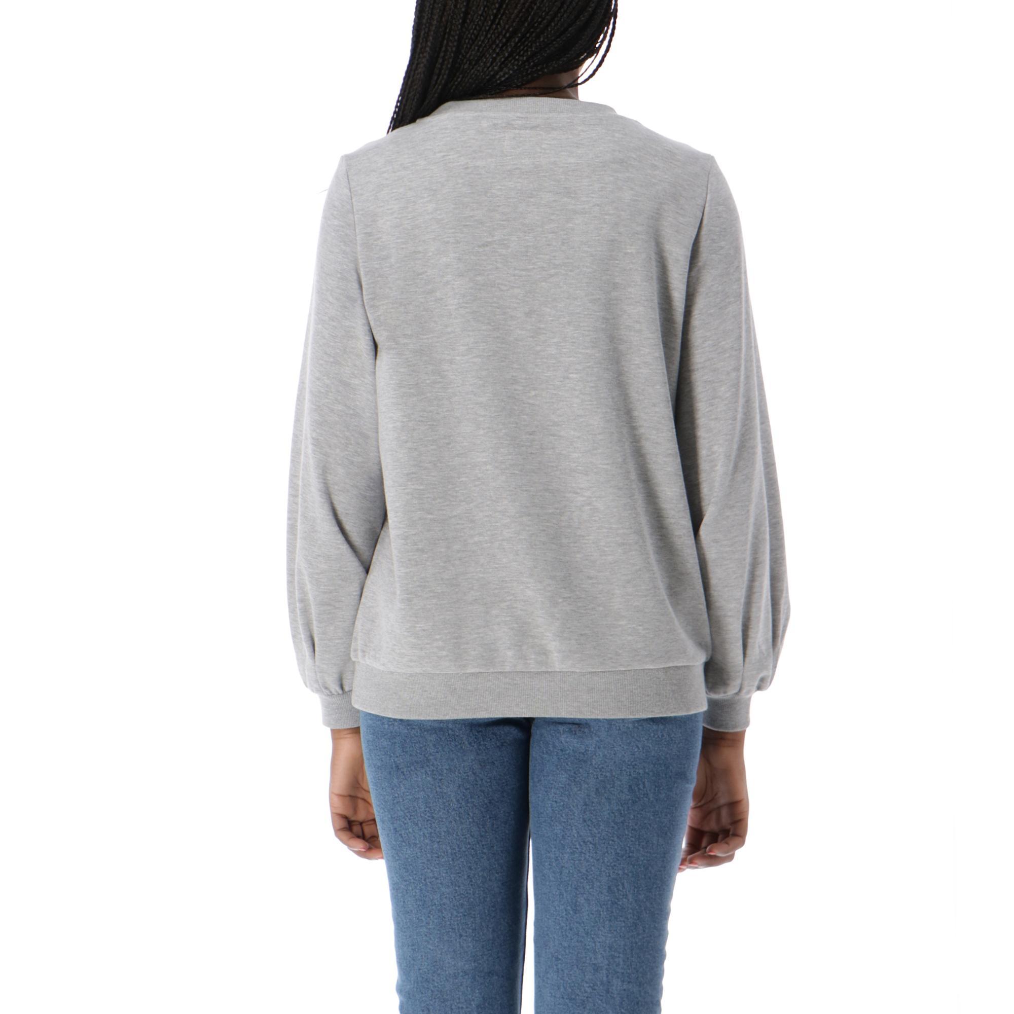 8fce80e02c91 Only Mickey O-neck Sweatshirt Light Grey Melange | Treesse
