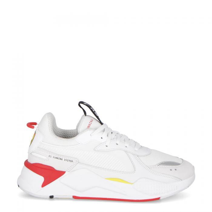 puma scarpe lifestyle white-rosso corsa