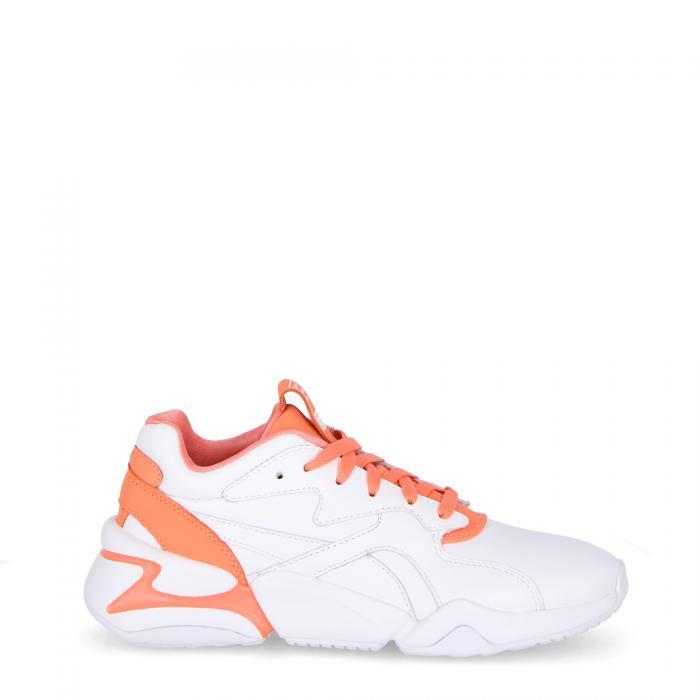 puma scarpe lifestyle white living coral