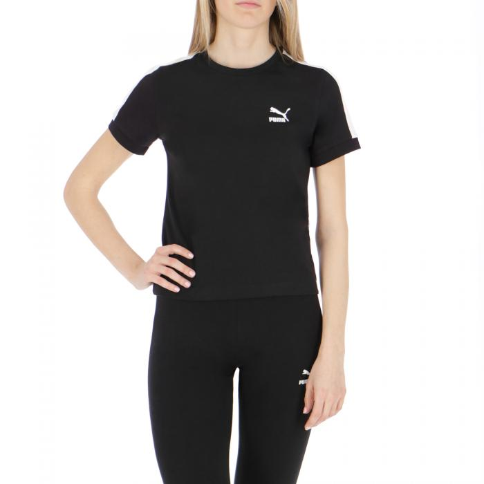 puma t-shirt e canotte black white