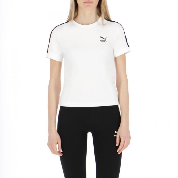 puma t-shirt e canotte white black