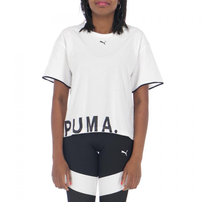 puma maniche corte white