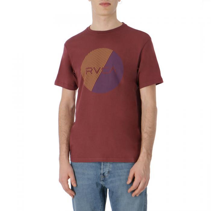 rvca t-shirt e canotte bordeaux