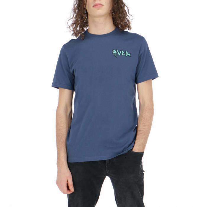 rvca t-shirt e canotte seattle blue