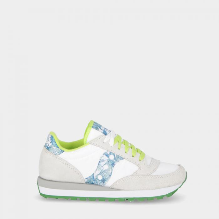saucony scarpe lifestyle white green floral