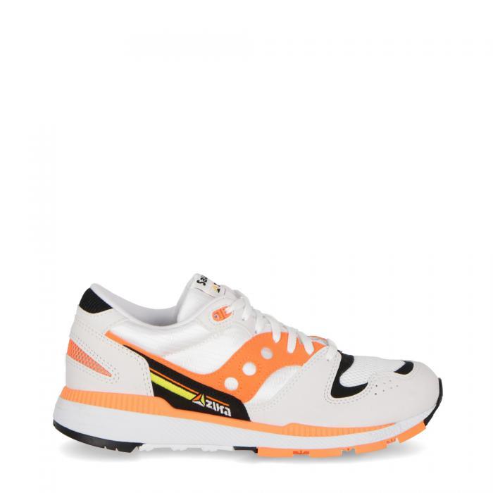 saucony scarpe lifestyle white orange black