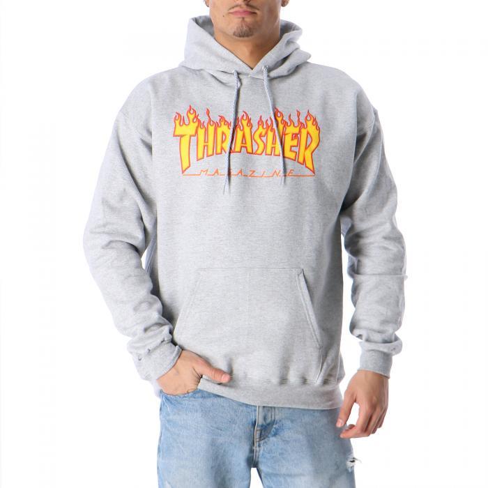 thrasher felpe grey