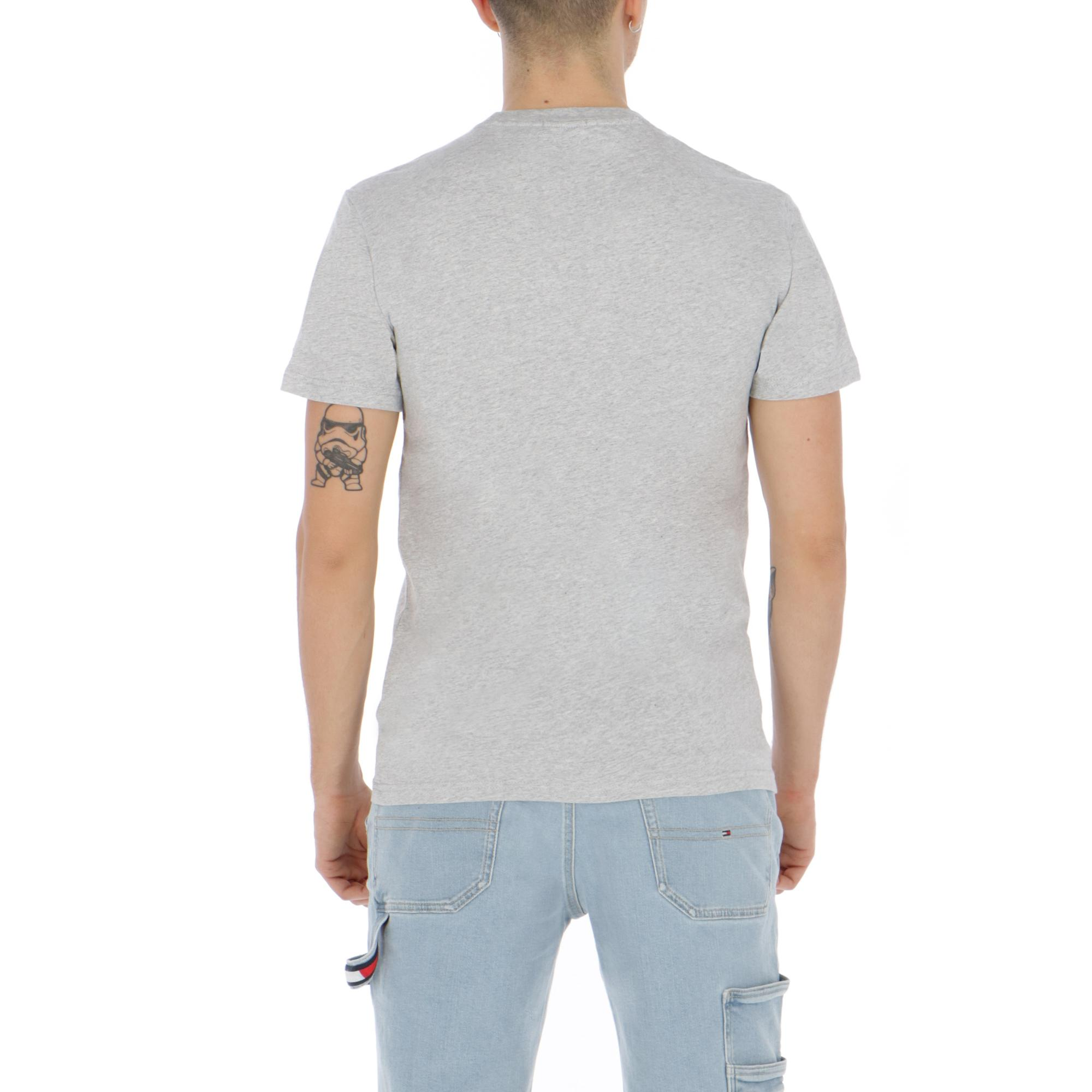 e43e1cf6 Tommy Jeans Circle Graphic Tee Light Grey Htr | Treesse