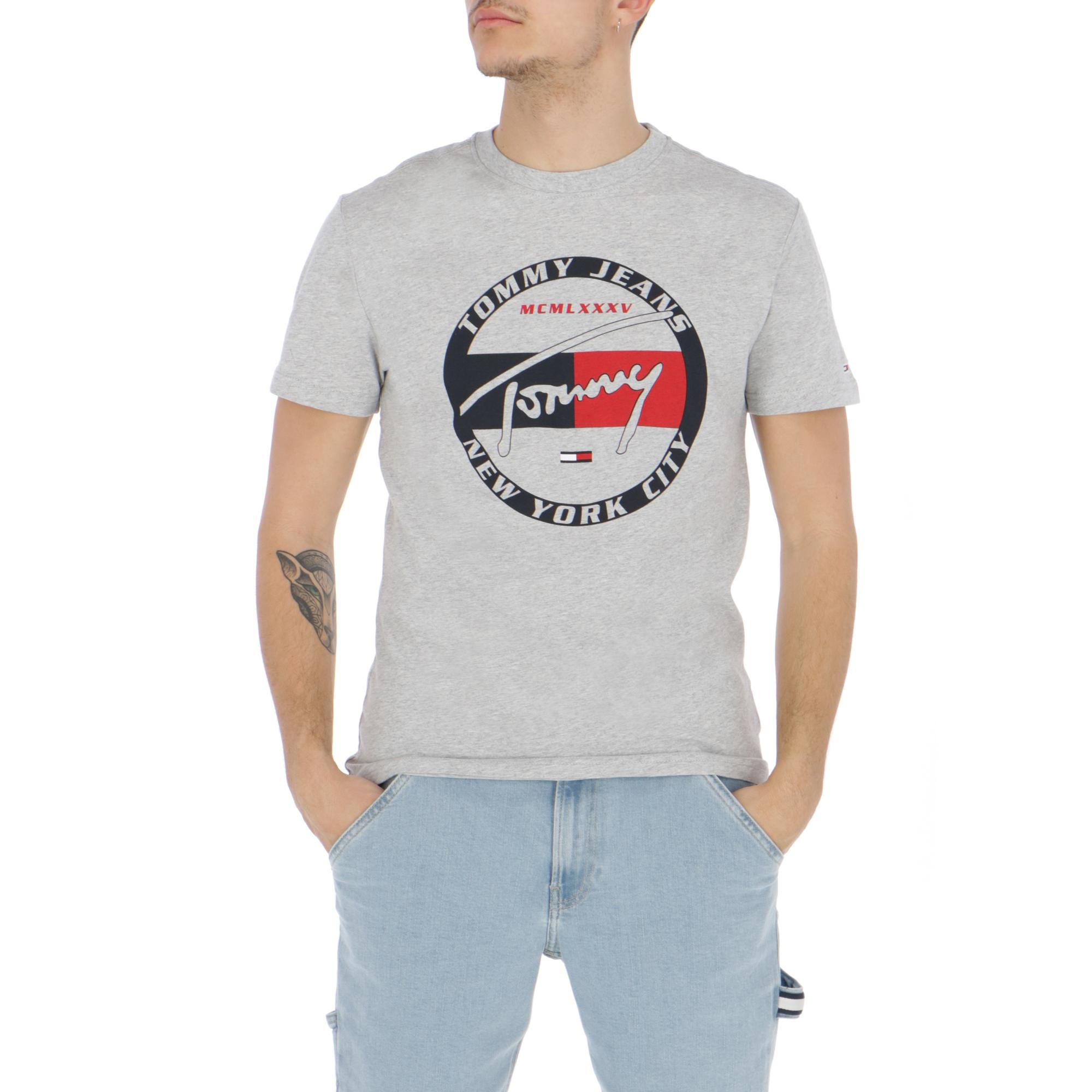 762fa7088a Tommy Jeans Circle Graphic Tee Light Grey Htr | Treesse