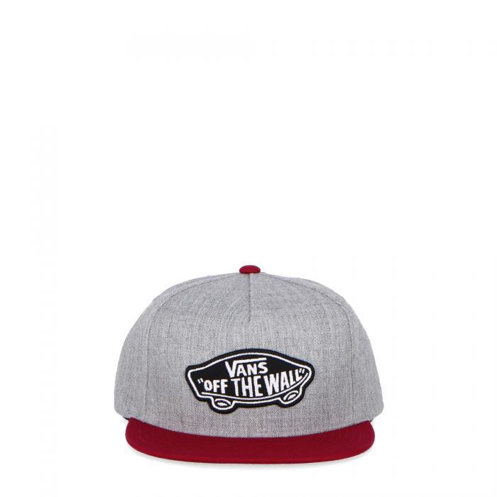vans cappelli heather grey rhumba red
