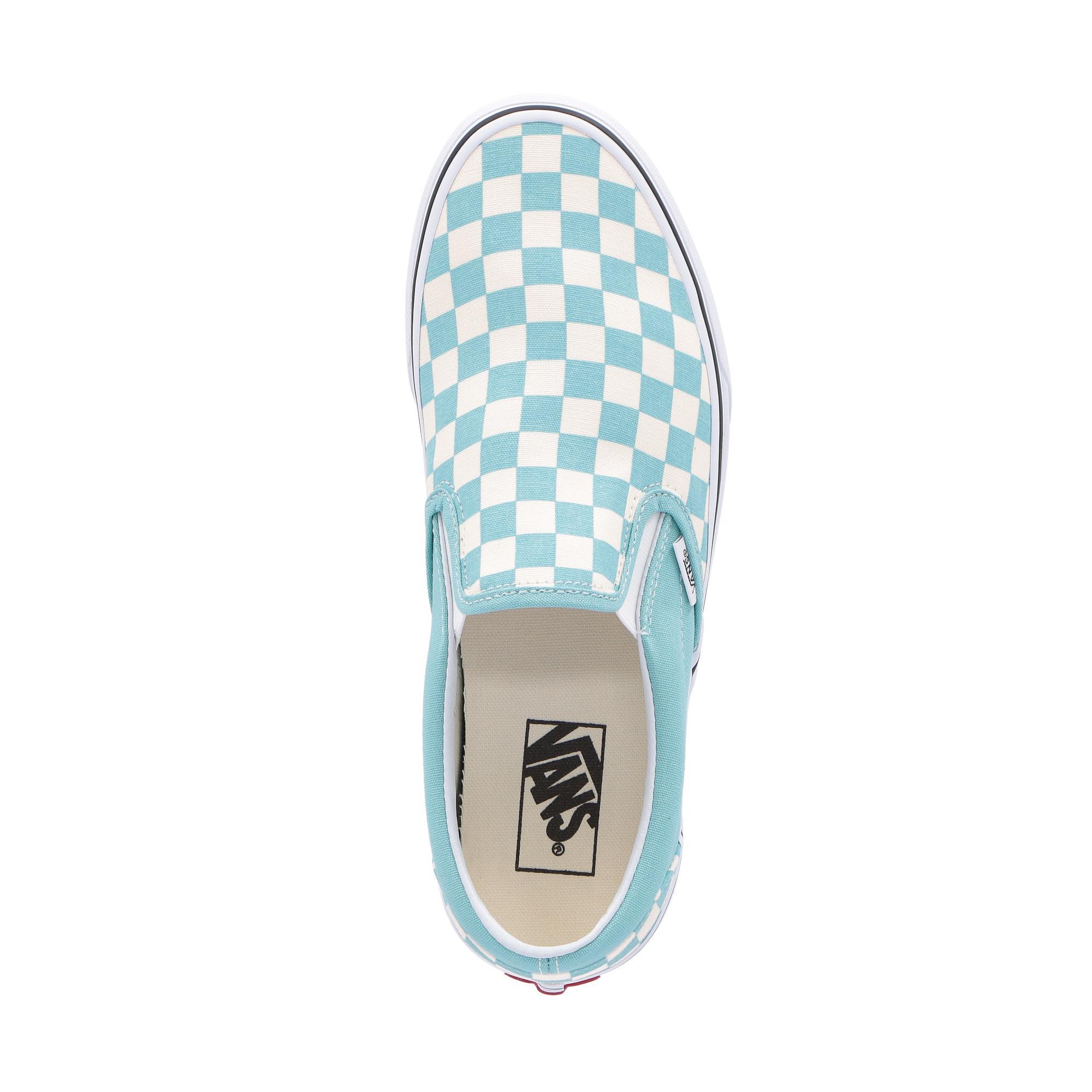 Vans Classic Slip-on (checkerboard) aqua haze
