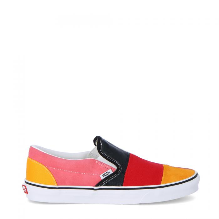 vans scarpe skate patchwork multi true white
