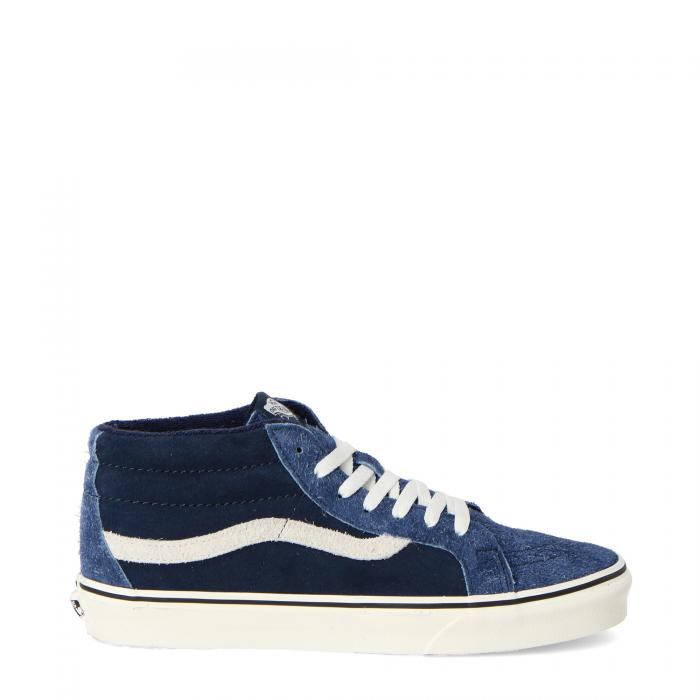 vans scarpe skate hairy suede mix dress blue