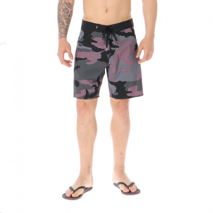 vans beachwear black plum camo