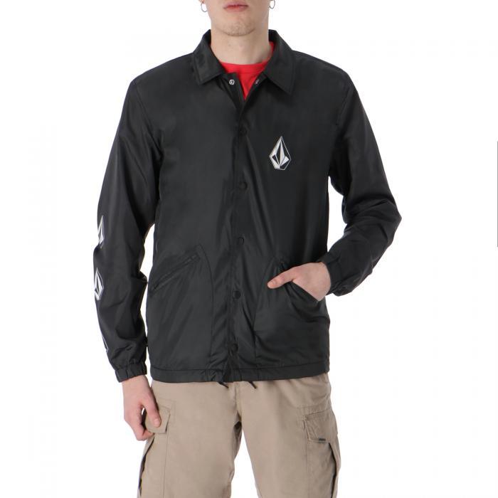 volcom giacche black print