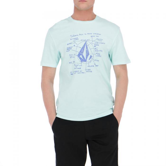 volcom t-shirt e canotte pale aqua