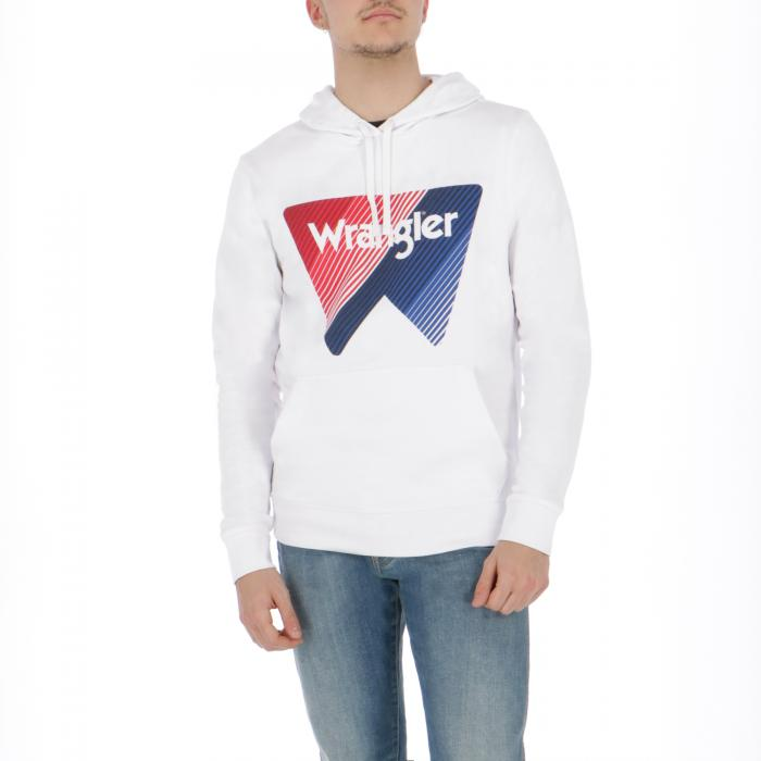 wrangler felpe white